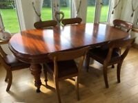 Extendable Antique Dining Table & chairs