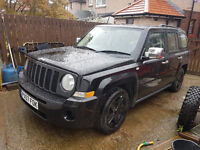 2007 jeep patriot crd 4x4 sport black with black wheels and lots of chrome bits px sell or swap
