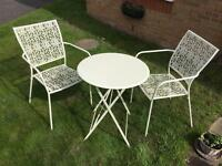 Bistro table & chairs set.