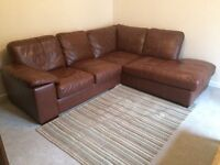 Leather Corner Sofa (like new) For Sale