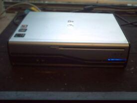 ACER L450 MINI DESKTOP COMPUTER TOWER ONLY .WINDOEWS 7 PRO 160 HHD 2GIG RAM AMD DUAL-CORE