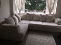 Lovely cream/ white corna sofa