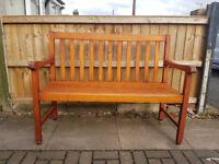 garden wooden seat