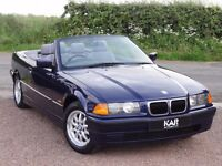BMW E36 318i SE Convertible, Manual, 1997 / P Reg, Only 50k Miles, MOT: 1 Year