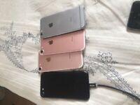 X 4 iPhone 7 phones