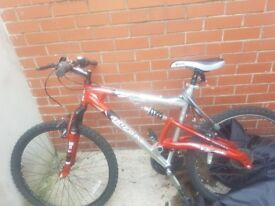 Bike for sale .hardly used and sitting gathering dust .cost 130 pounds .will accep 70