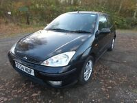 ford focus 2005 1.8 petrol 3 door MOT till 24th nov 2017 LOW MILES 74K LONG MOT black