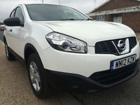 2012 NISSAN QASHQAI VISIA 1.6 PETROL LOW MILEAGE LONG MOT HPI CLEAR BARGAIN