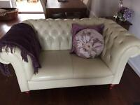 Leather Chesterfield 2 seater sofa +3 seater sofa