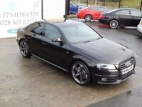 LATE 2008 AUDI A4 2.0TDI S LINE 143PS !!BLACK EDITION SPEC!! SALOON ( FINANCE & WARRANTY AVAILABLE)