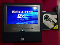 BRAND NEW,,SCOTT,,WALKING CINEMA 7*TFD LCD DVD PLAYER