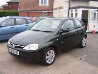 2002 VAUXHALL CORSA GLS IDEAL FIRST CAR 12 MONTHS MOT SXI ALLOYS £695