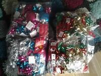 4x new packs of xmas bows and ribbons 60p a pk or 2 for a £1