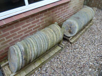 "50 x Round Garden Paving Slabs Unused - 44cm 17 1/4"" Diameter Circular Stepping Stones Concrete"
