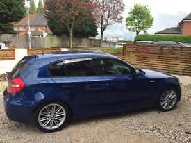 *BMW 120d Msport**59 reg**5 door Le Mans blue leather stunning 6 speed