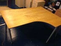 office desk Ikea galant right corner