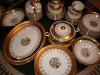 Vintage Gold Plated Dinner Set