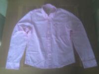Hollister mens's pink grid pattern shirt (large; slim fit) JUST REDUCED