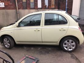 Nissan Micra Breaking for part