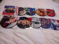 """Bowie 7"""" x 10, RSD picture discs x2, French Hereos Blue 2000 made, 7 picture discs"""