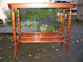 Antique Victorian side table with magazine rack, hall table, occasional table c. 1900