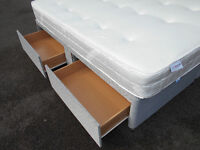 Super king size (6ft) divan bed with storage. Delivery available