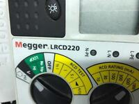 Megger, loop and rcd tester