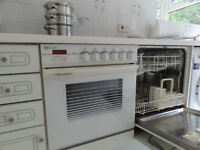 Second hand kichen cupboards, with integrated oven, hob, fridge and dishwasher for sale