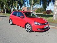 VW GOLF GT TDI 140 3 DOOR IN STUNNING RED