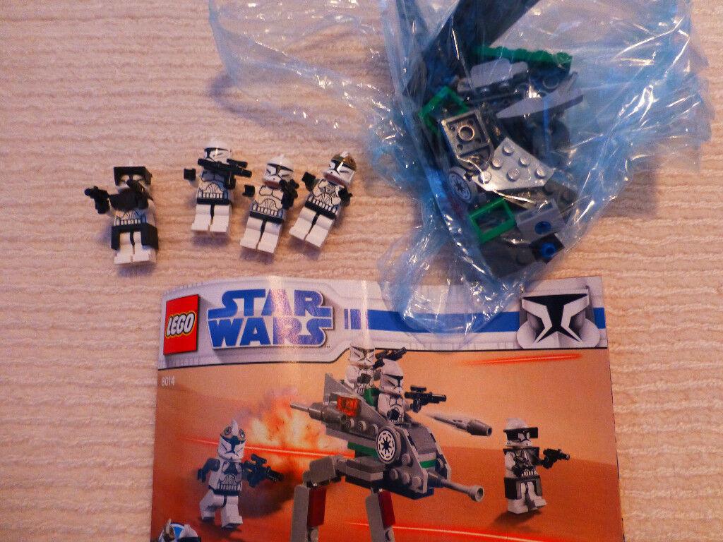 Lego Starwars 8014 Lego Clone Walker Battle Pack 100 Complete In