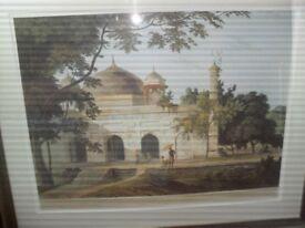 Print of mausoleum 0f nawaub khan