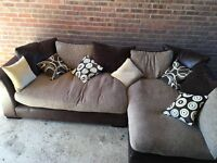 L Shape corner sofa.