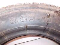 Matching trailer wheel tyres 3.50 X 10 X 400 new