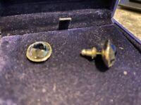Swarovski Genuine Blue Sapphire Crystal Earrings w/ certificate in original box