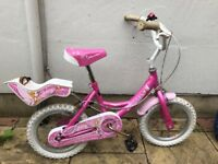 Girl's first bike with stabilisers, hardly used. £15 ono