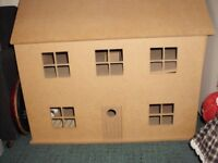 dolls house and a few items of furniture