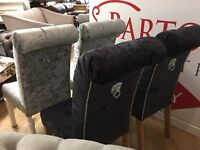 velvet dining chairs only £199 each choice of colours