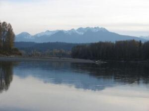 Beautiful Isolated Acreage on the Fraser  West of McBride,BC
