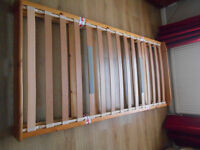 Solid pine pull out single guest bed