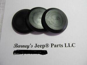jeep cj5 cj6 dj5 windshield linkage access plugs kit 1969 - 1975 978055 new!