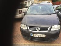 05 VW TOURAN 1.9 TDI MANUAL WITH 140000 K MILES ON CLOCK STARTS AND DRIVES