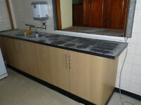 Good quality kitchen units and work top