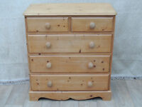 Farmhouse Chest of Drawers Chunky pine wood throughout (Delivery)