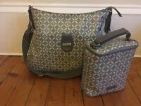 StorkSak nappy bag / changing bag Nina grey