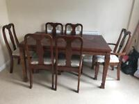 Dining table and 6 chair