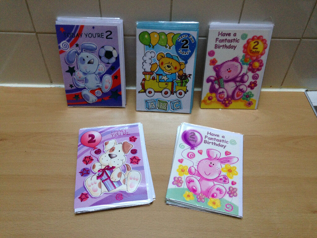 Bundle of assorted birthday cards