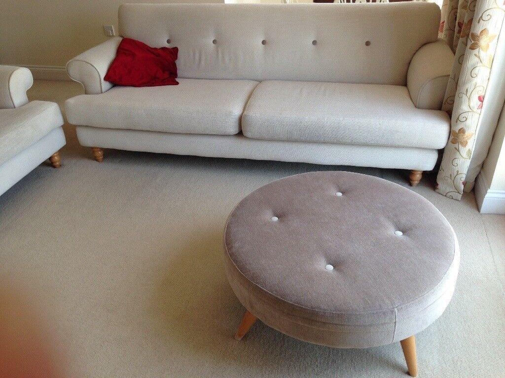 three seater sofa bespoke scotch guarded exc condit in swindon