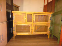 brand new 4ft 2 tier rabit /guinea pig hutch in harvest gold