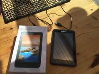 Lenovo tab A7 Tablet, Excellent condition, hardly used. Wiped ready to go with box & charger.