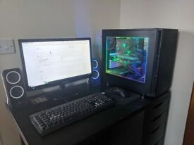 i5 Gaming PC, Monitor, Speakers, Keyboard & Mouse.